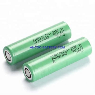Samsung INR18650-25RM 2500mAh 20A High Power Lithium-ion cell